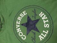 Converse green tee shirt