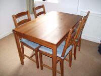 Table and 4 chairs Ikea JOKKMOKK