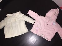 Baby girl 0-3 and 1-4 month coats