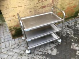 3 tier commercial catering trolley