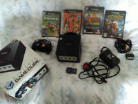 Gamecube console and games