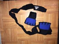 Gel boxing wraps with wrist support and skipping rope