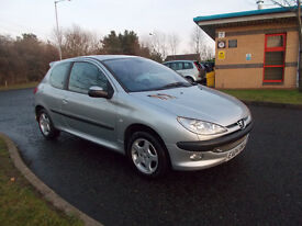 PEUGEOT 206 SE HATCHBACK 3 DOOR SILVER 2004 BARGAIN ONLY 450 *LOOK* PX/DELIVERY
