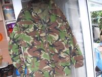 ARMY FATIGUES 2 JACKETS TROUSERS AND FUR LINED HAT £25 THE LOT