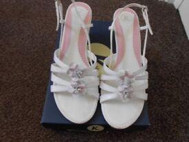 White K Shoes Slim Wedged Heels Size 5 Worn Twice.