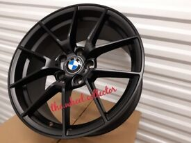 "J2* NEW 4X 18"" BLACK COMPETITION BMW 5 4 3 2 1 SERIES ALLOY WHEELS ALLOYS Z4 763M M PERFORMANCE CS"