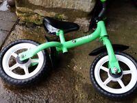 Avigo child green balance My First Balance bike age 3-5 Paulton or Stapleton