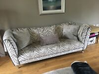 Large 3 seated and Cuddle Sofa for sake