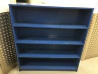 large solid heavy pine shelf unit