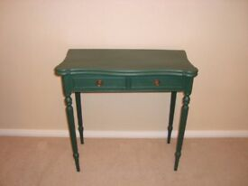 Shabby Chic Hall or Card table painted in Annie Sloan