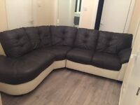 DFS Black and White Corner Sofa. Excellent Condition. Selling due to moving house