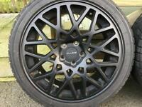 "Dare LP 560, rotiform BLQ style 18"" 5x112 wheels to fit Audi VW Mercedes A3 mk5"