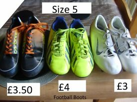 football boots size 5 from a smoke and pet free home prices on pics or £10 the lot