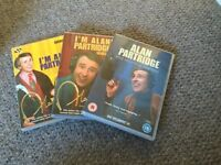 Collection of 3 Alan Partridge DVD's and 4 Inbetweeners DVD's
