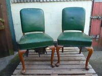 Leather Dining Chairs x 2 Shabby Chic Project Delivery Available