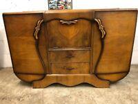 Vintage Stonehill cabinet, cocktail, sideboard, oak veneer, Art Deco style, £250