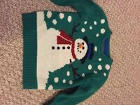 Boys 4 to 5 Years Christmas 3D Snowman Jumper