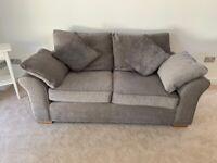 NEXT Velvet Grey 2 seater sofa GARDA range