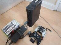 Xbox 360 - 2 Controllers, 6 Games, 120GB Hard Drive Fully working
