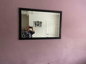 Large black framed wall mirror - bargain at £5