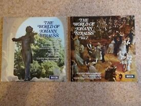 The World of JOHANN STRAUSS - 2 Vinyl LP's