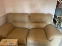 Three and two seater settees, good condition