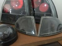 Honda Prelude BB4 Black Dark Smoke Front Corner Lights