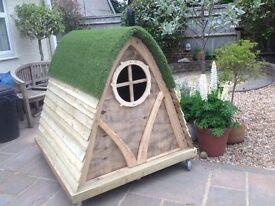A unique 'Hobbit' style play house.