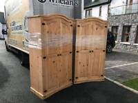 solid solid mexican pine wood wardrobes £125 a piece