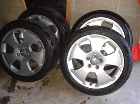 "Genuine Audi Alloy Wheels 17"" with excellent tyres"