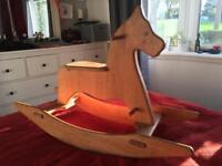 Rocking horse. Solid wood