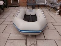 INFLATABLE DINGHY WAVELINE 270 , SOLID OUTBOARD TRANSOM DINGY TENDER RIB SIB SAILING FISHING BOAT