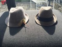Used/like new River Island hat £10 each