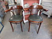 2 x Small bentwood chairs