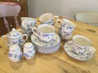 BHS Bristol Blue cups & saucers x8