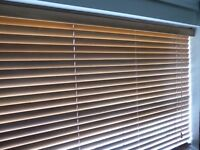 Window blinds - 2 wooden Venetian blinds for £15