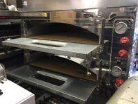 "NEW ITALIAN 2 DECK PIZZA OVEN 8 X 13"" TAKE AWAY RESTAURANT CAFE KEBAB BBQ KITCHEN SHOP BAR"