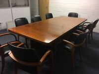 Beautiful boardroom, conference table and chair set