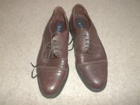 MENS LEATHER DRESS SHOES & SUEDE SHOES (2 pairs)