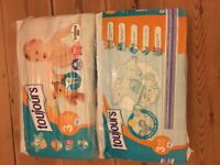 2 x 56 size 3 midi nappies NEW unopened packs