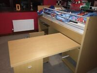 Kids Cabin Bed and pull out desk for sale £100