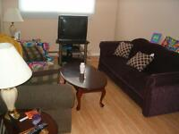 2 Bedroom Sept 1, Students Welcome, 3 min walk to UNB/STU