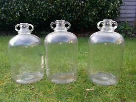 3 Glass Demijohns - £10 for the set