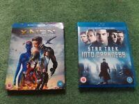 X-Men Days of Future Past and Star Trek Into Darkness Blurays, both excellent condition