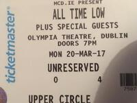 2 X ALL TIME LOW TICKETS