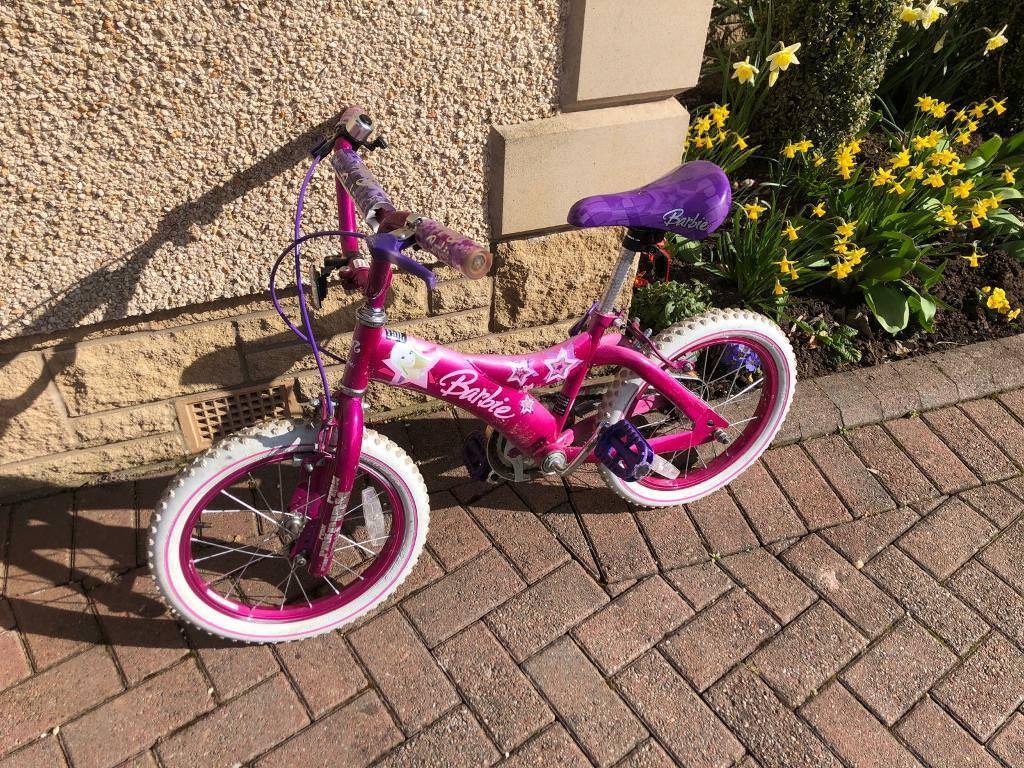 Girls Barbie Bike Bicycle 16 Wheel Suit Age 4 7 In