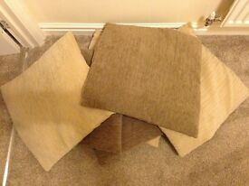Brown and cream cushions