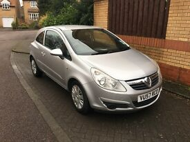 Vauxhall Corsa Club Silver Long MOT Perfect First Car HPI Clear