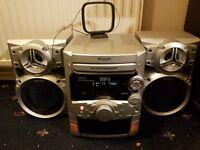 Panasonic SA-AK220 stereo with 2 subwoofers