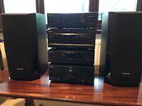 Technics 6 piece stereo system